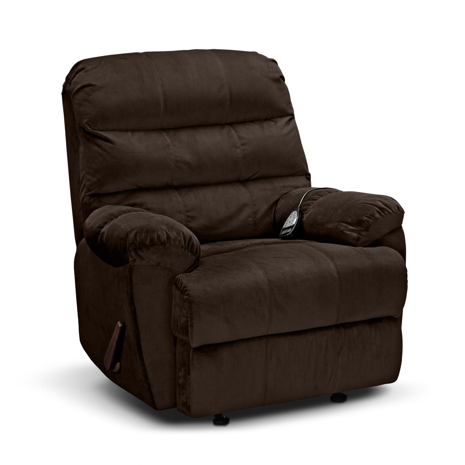 Atlantic Massage Rocker Recliner Chocolate Value City