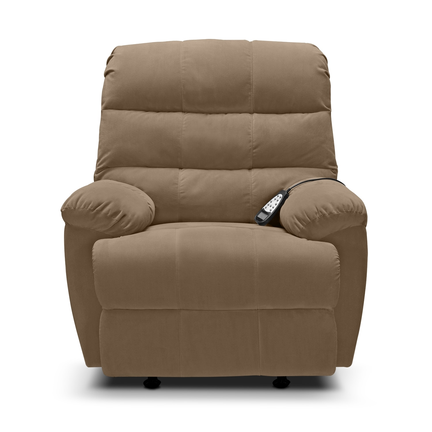 Atlantic massage rocker recliner value city furniture for Chair recliner