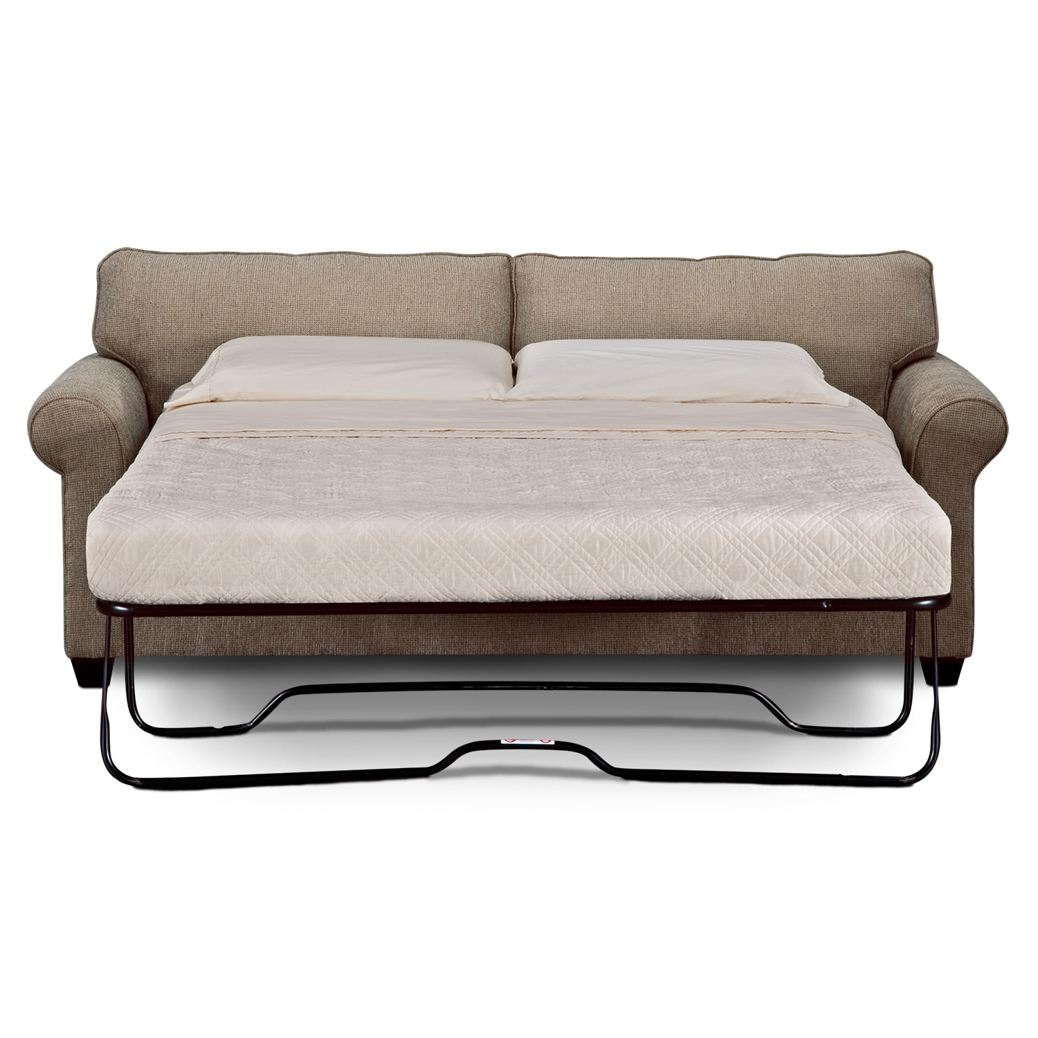 Fletcher queen sleeper sofa value city furniture for Sofa queen bed
