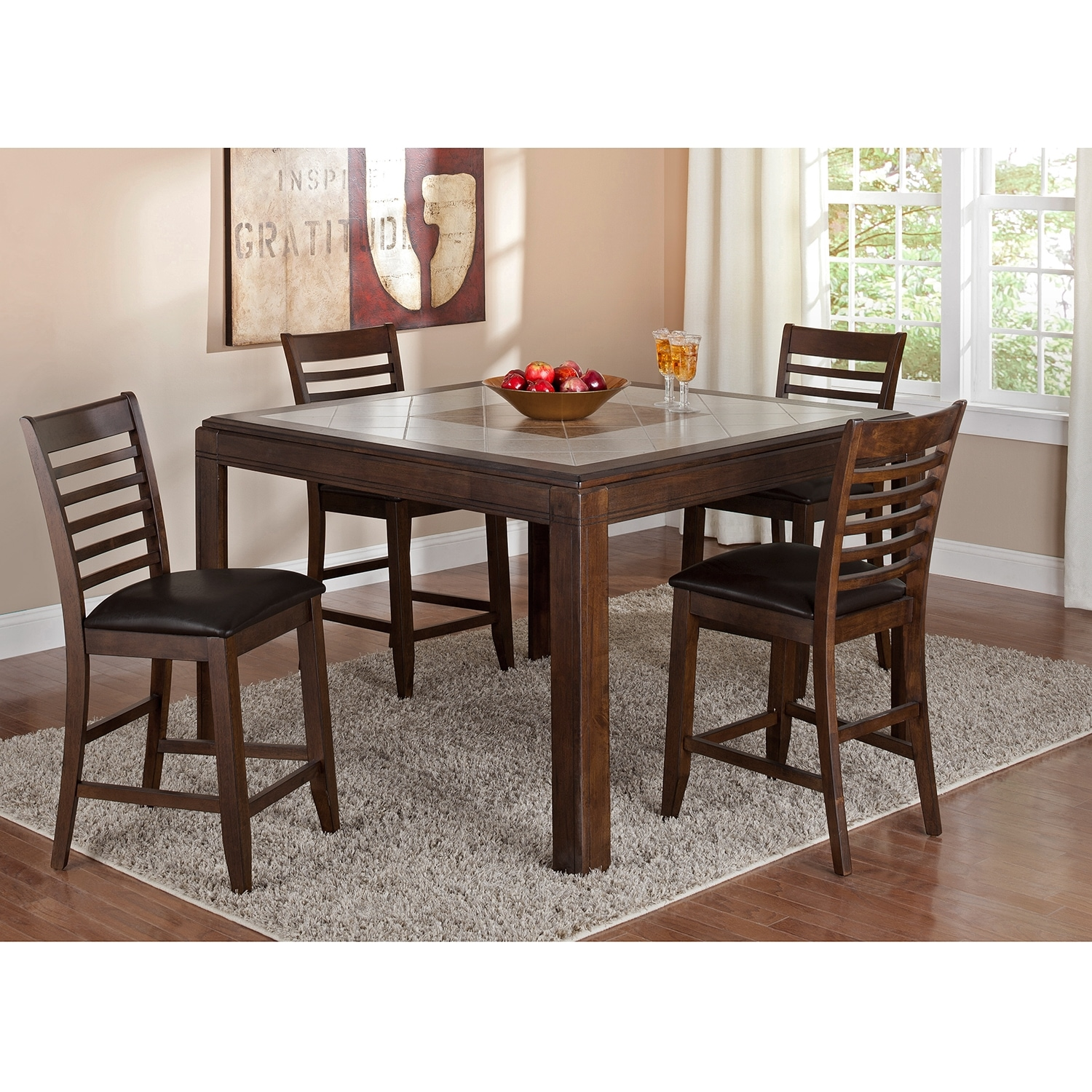 Deer Creek II Dining Room Counter Height Table Value City Furniture