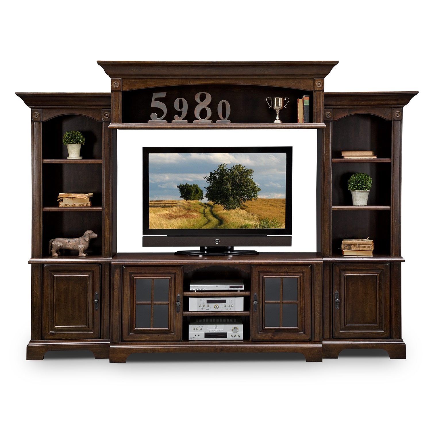 Berkshire Entertainment Wall Units 4 Pc Entertainment