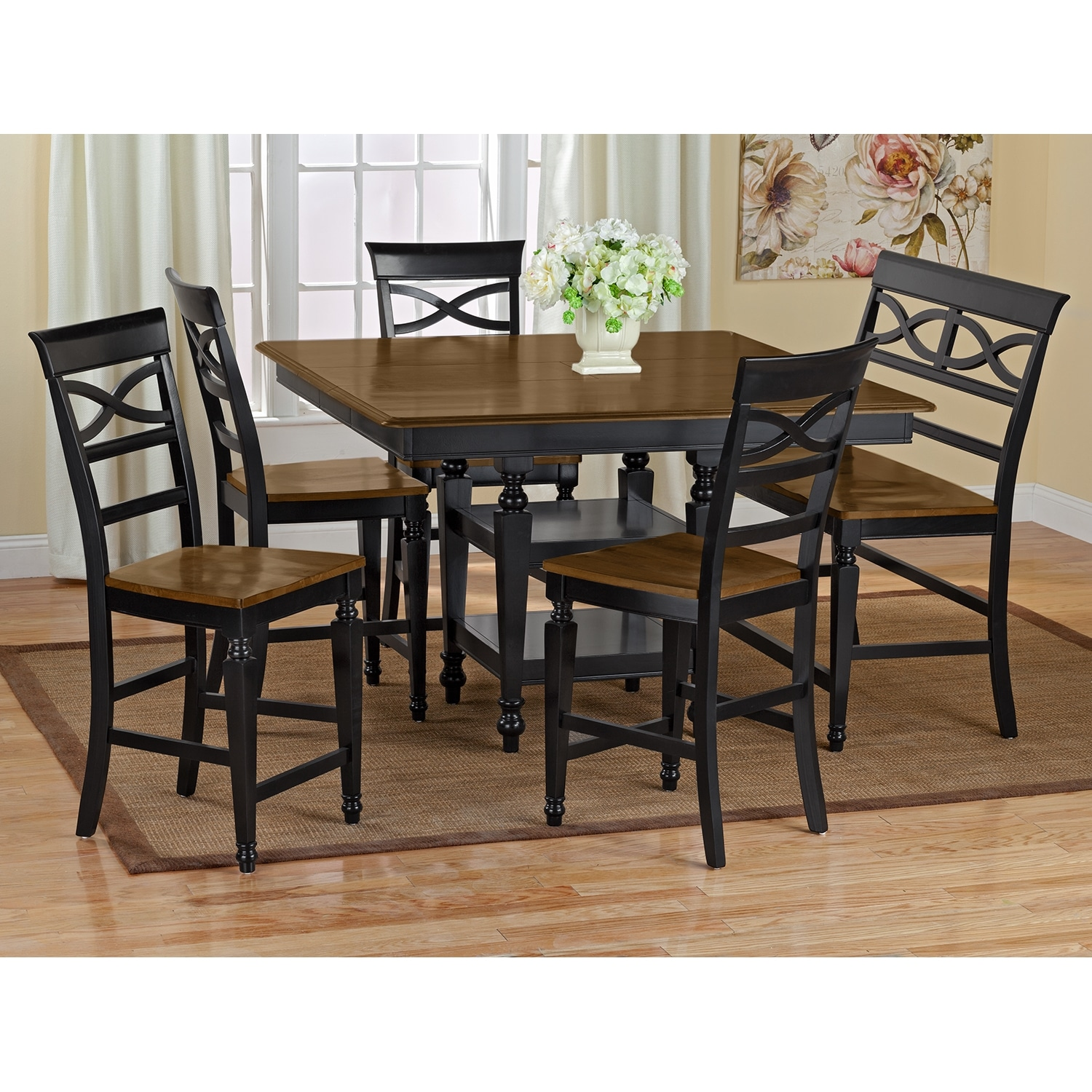 chesapeake dining room counter height table value city furniture
