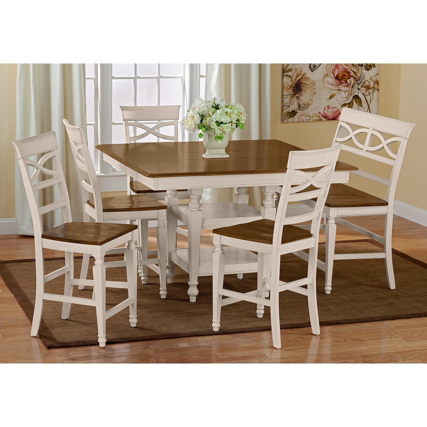 Counter Height Dining Set With Bench : Chesapeake II Dining Room Counter-Height Table - Value City Furniture
