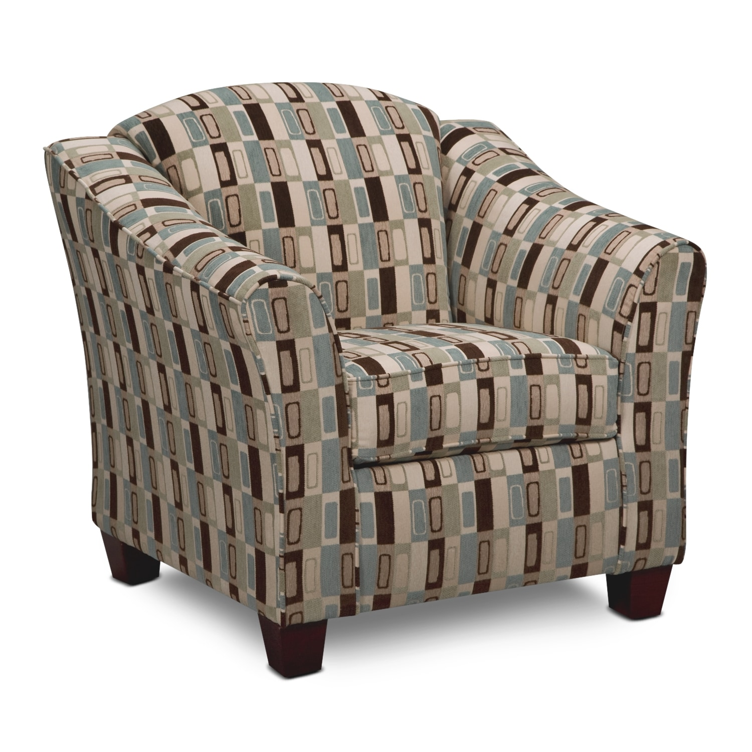 Living Room Furniture - Salina Taupe Accent Chair