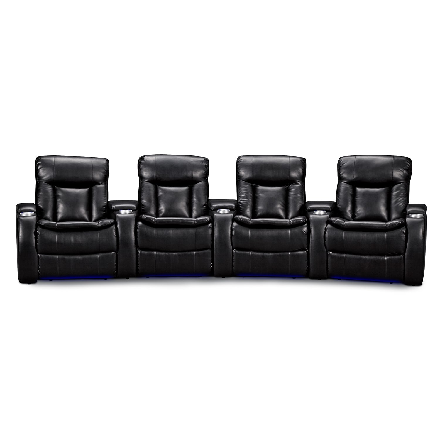 Larson Leather 4 Pc Power Reclining Home Theater