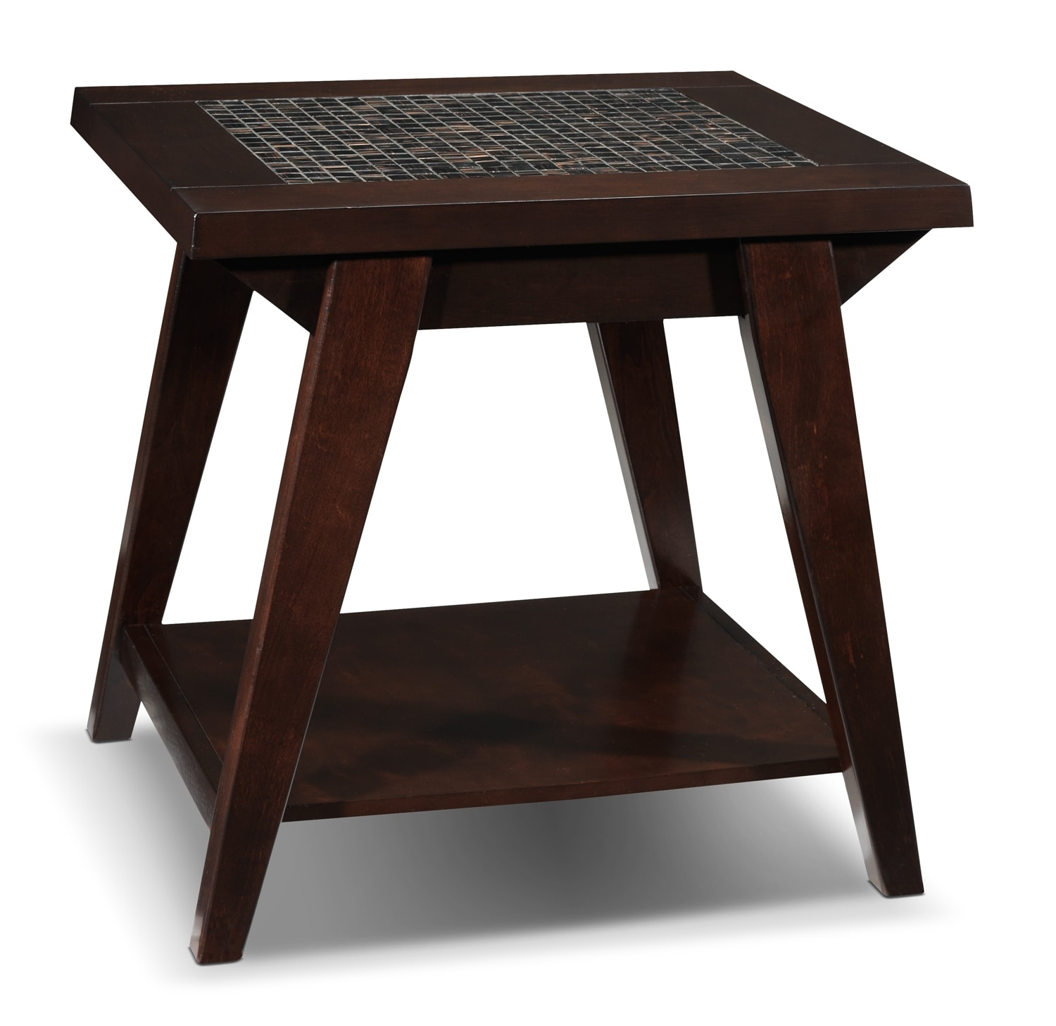 Accent and Occasional Furniture - Barcelo End Table - Espresso