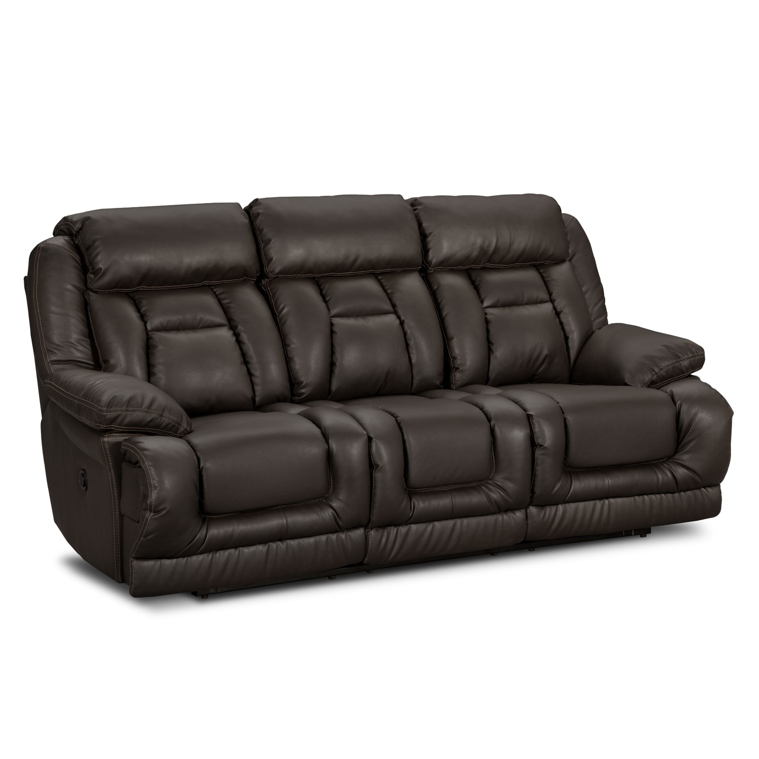 Power Leather Reclining Sofa Coronado Leather Power