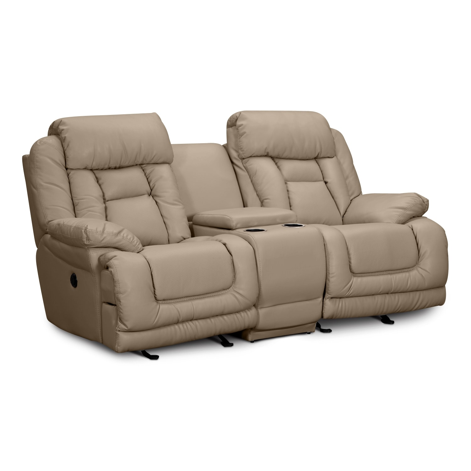 Value city furniture Leather loveseat recliners