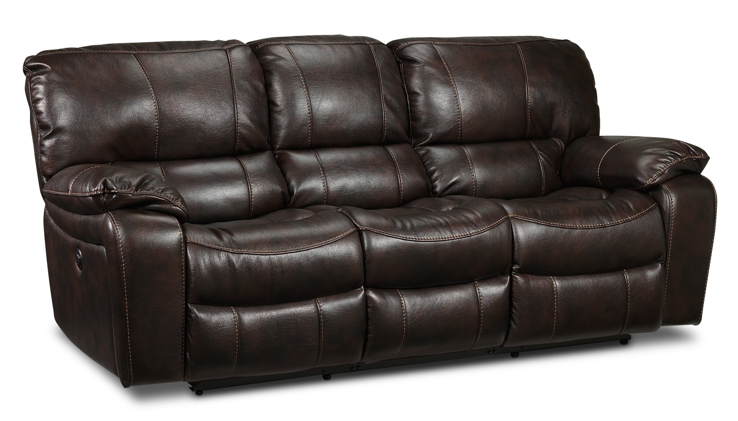 Living Room Furniture - Santorini Power Reclining Sofa - Walnut