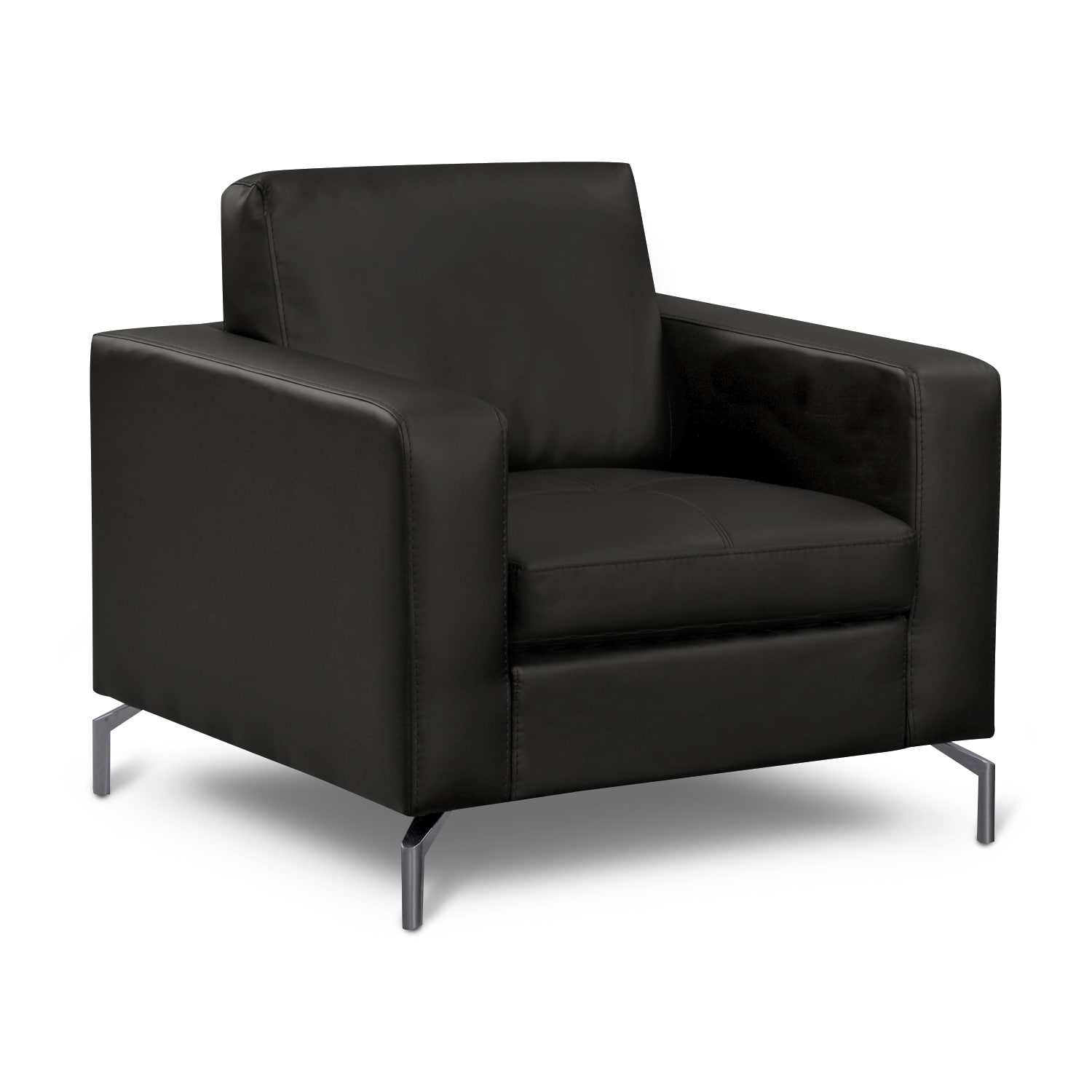 Living Room Furniture - Mirage Black Chair