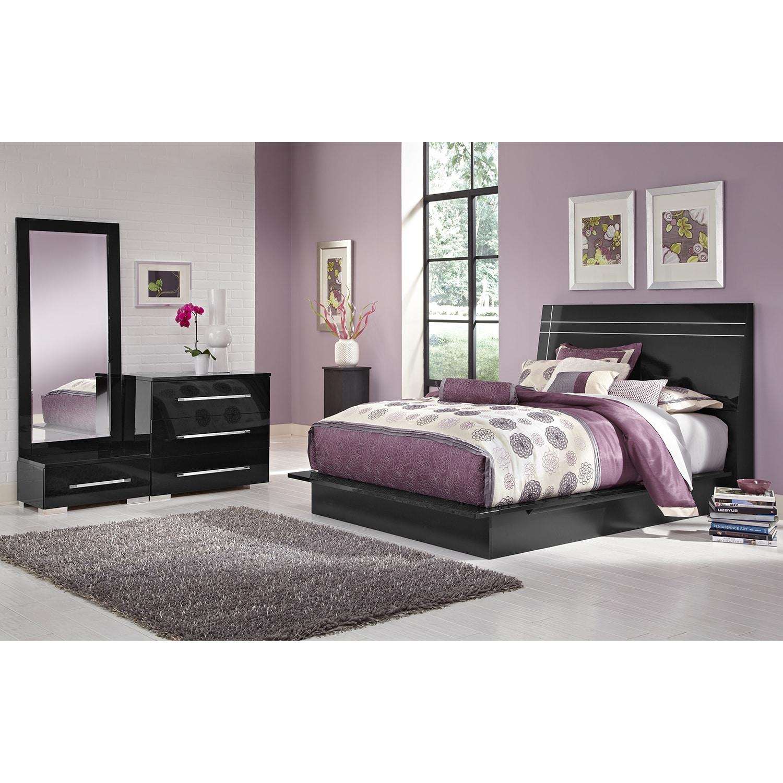 Dimora Black Dressing Dresser & Mirror With Step