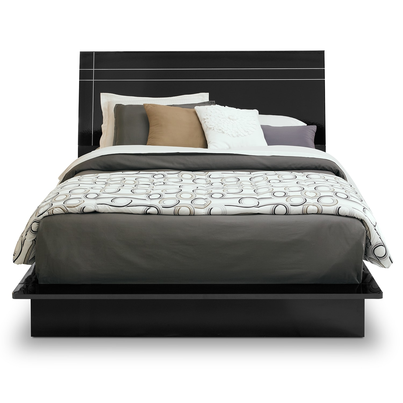 black queen bed  interiors design - dimora black ii queen bed value city furniture