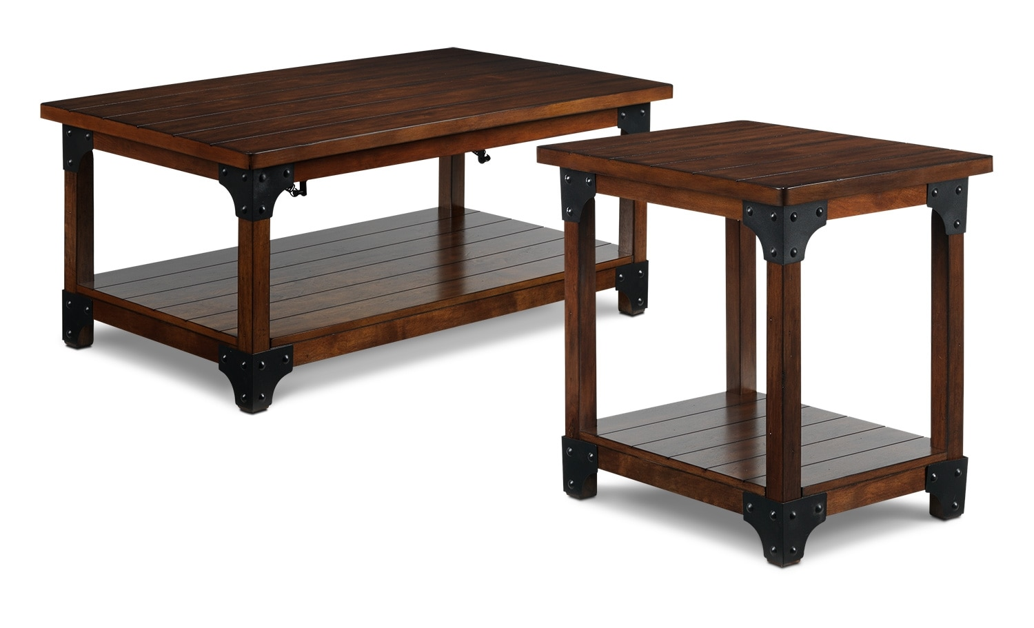Wellington coffee table and end table walnut leon 39 s for Furniture wellington