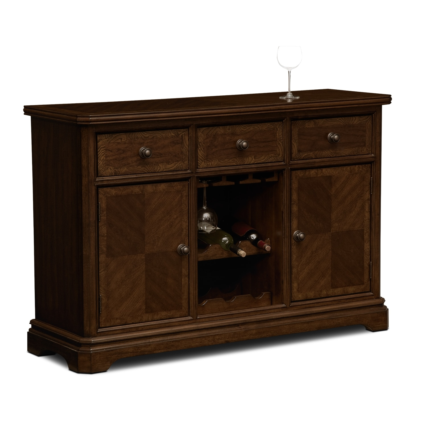 Westin dining room sideboard value city furniture for Dining room dresser