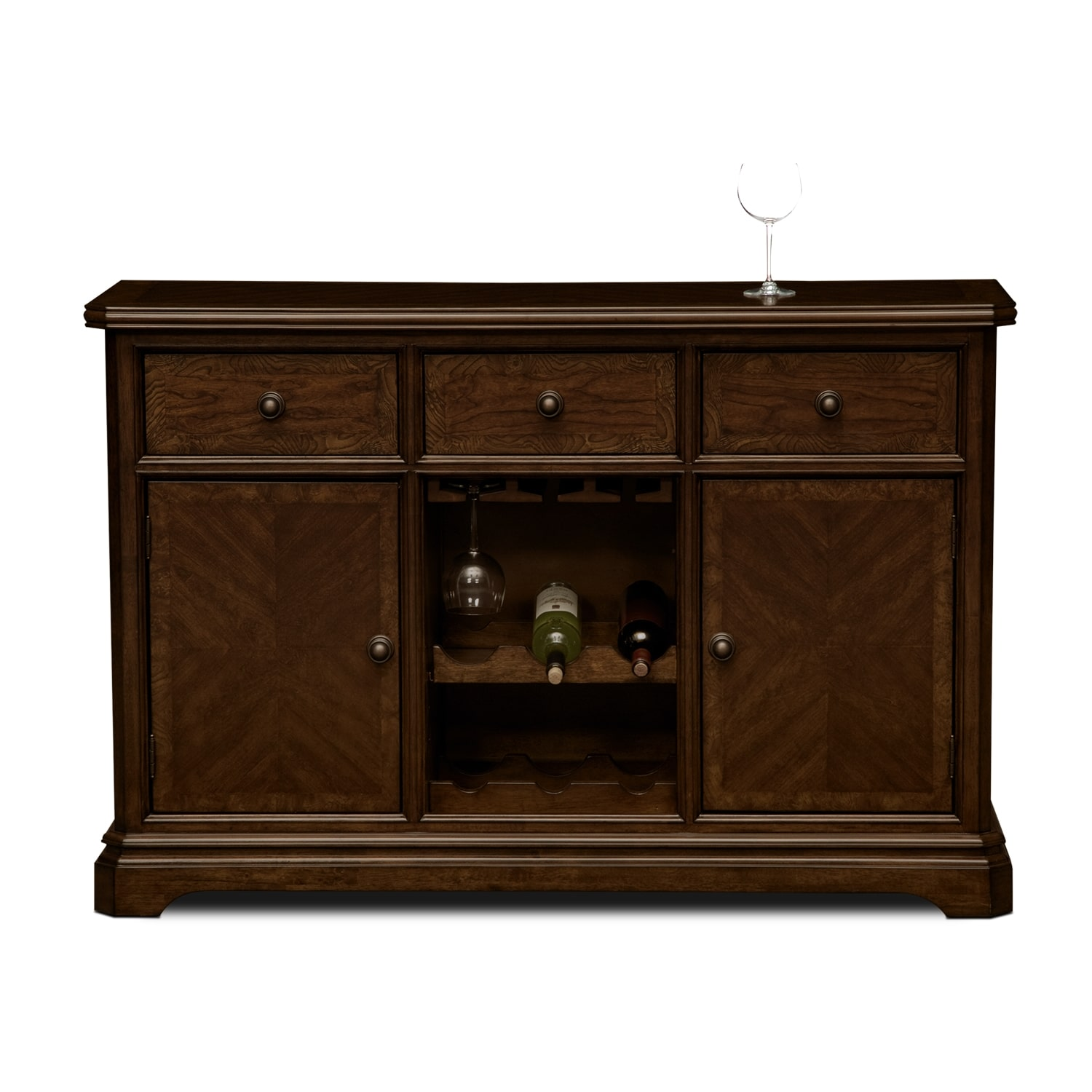 Westin dining room sideboard value city furniture for Dining room sideboard