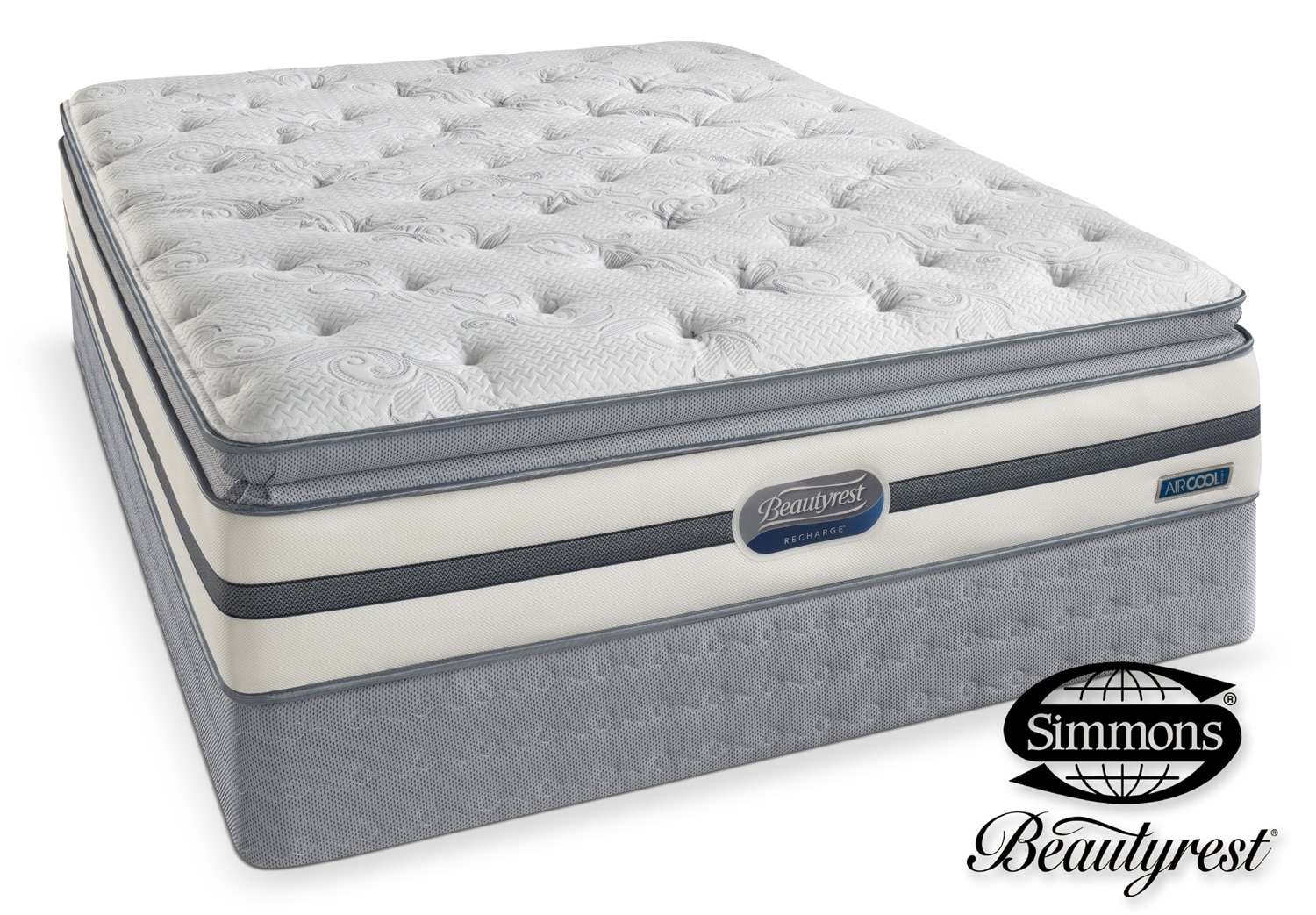 Mattresses and Bedding - Simmons Danube Firm King Mattress/Split Boxspring Set