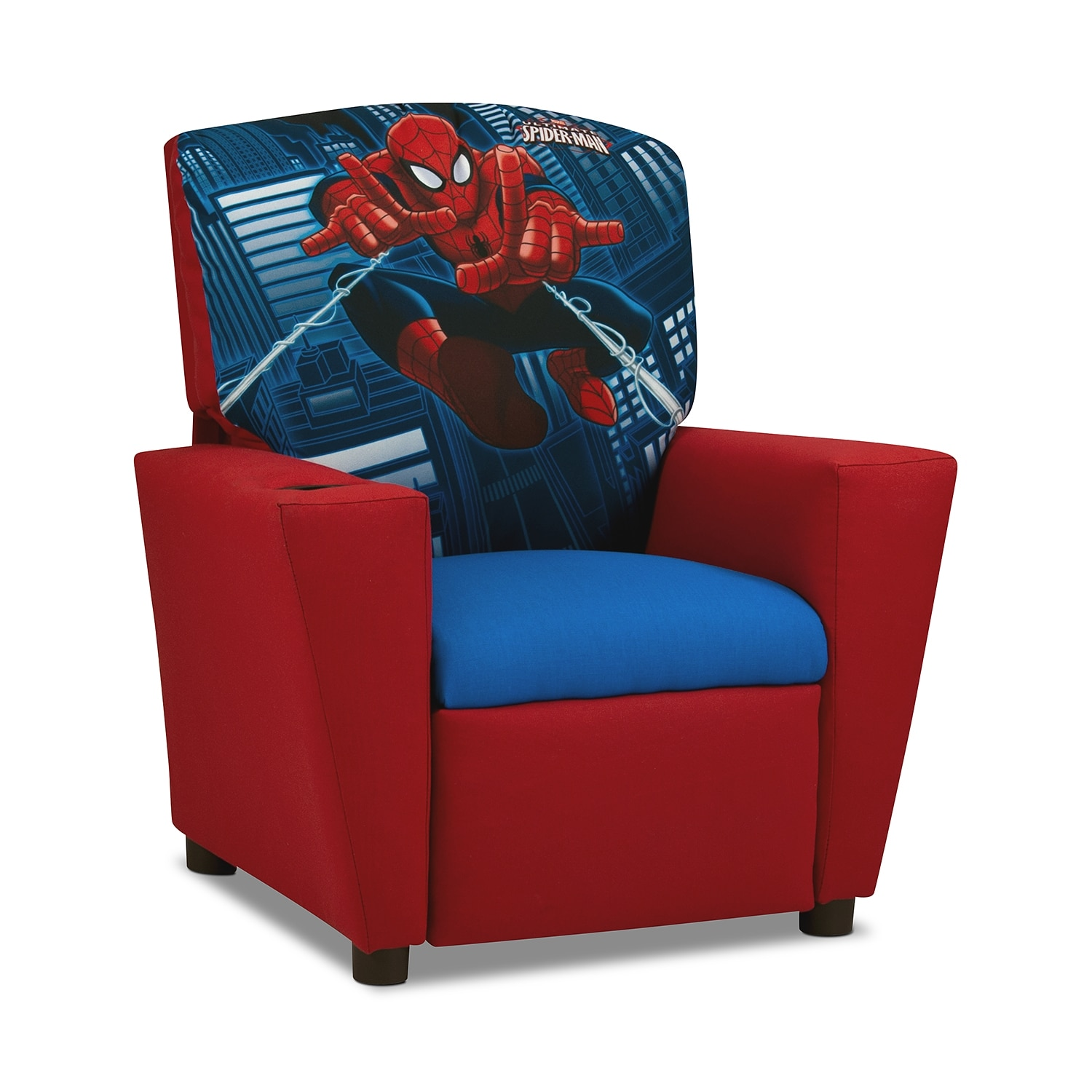 Spider man kids furniture child 39 s recliner american for Kids recliner chair