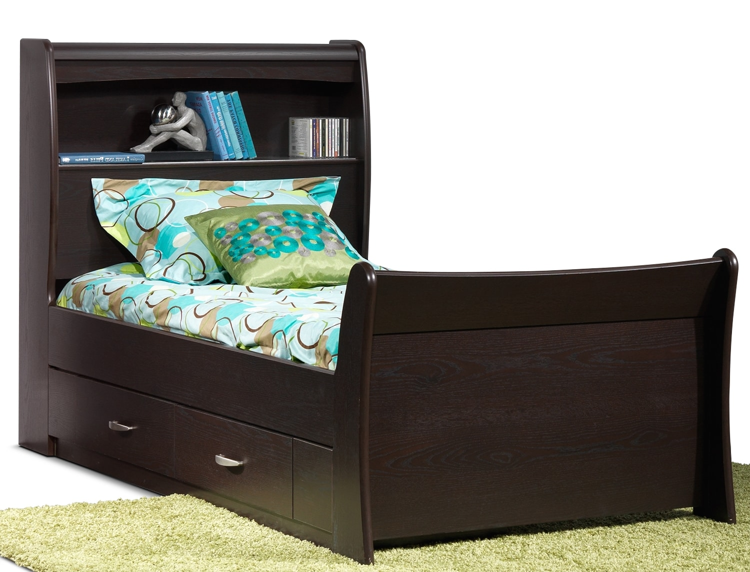 Kids Furniture - Rachel Twin Storage Bed - Chocolate