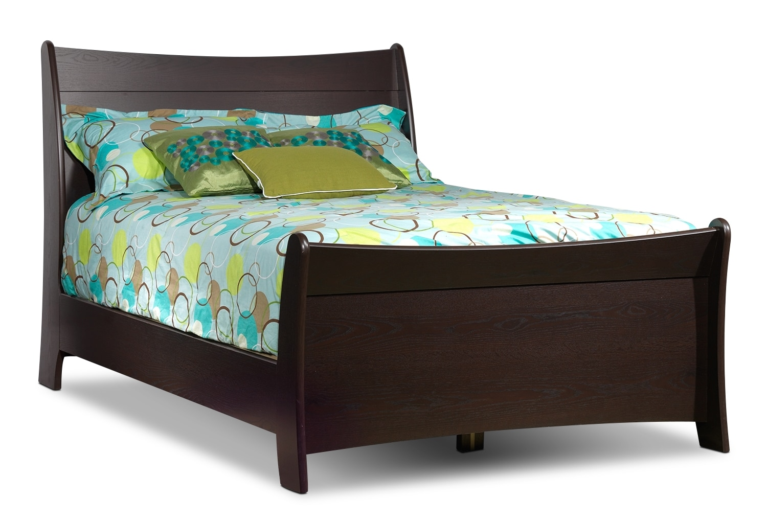 Rachel full sleigh bed chocolate leon 39 s - Furniture bed image ...
