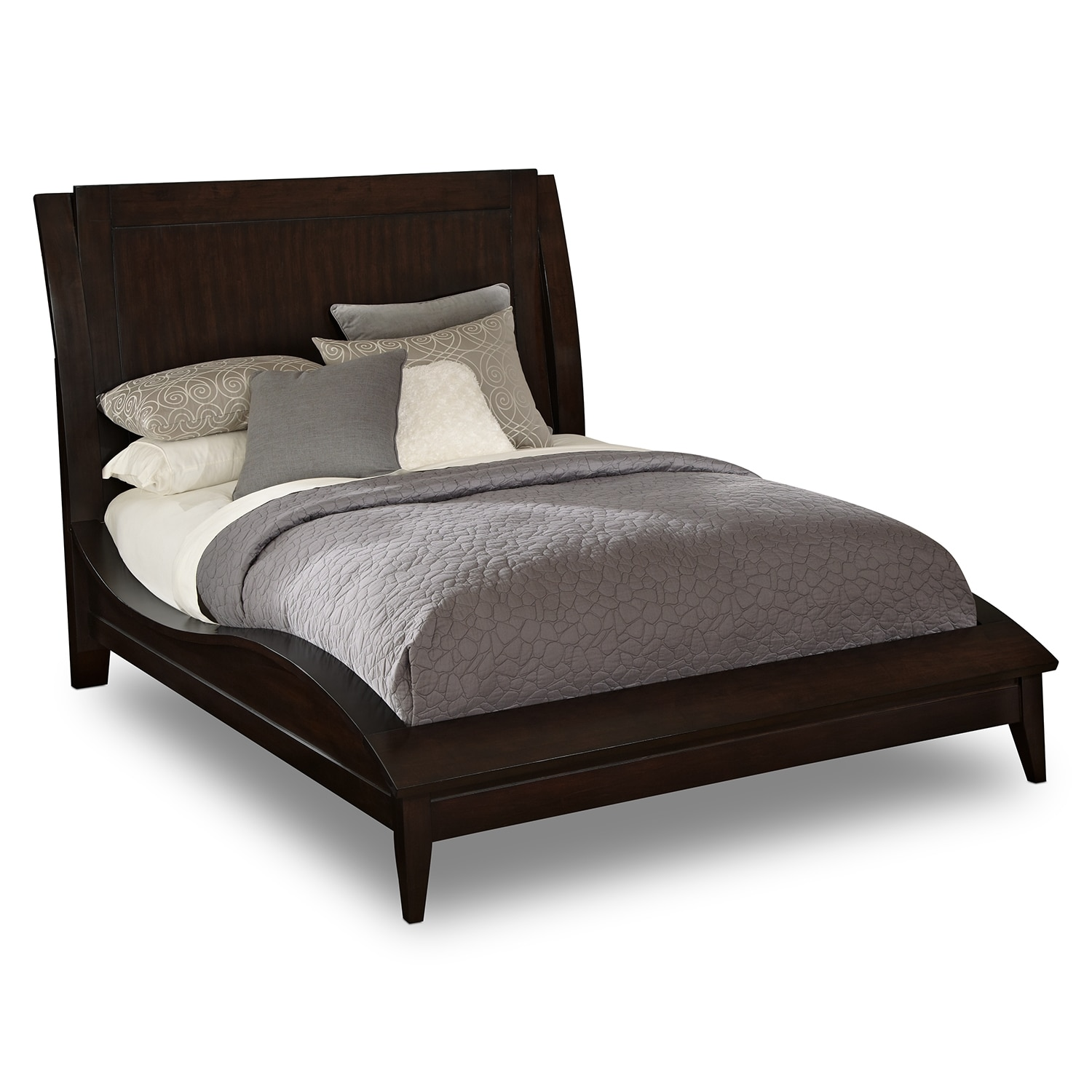 [Cascade Merlot King Bed]