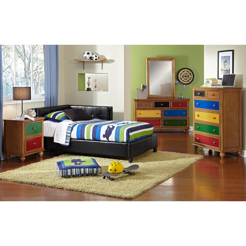 Jordan Twin Corner Bed Black Value City Furniture