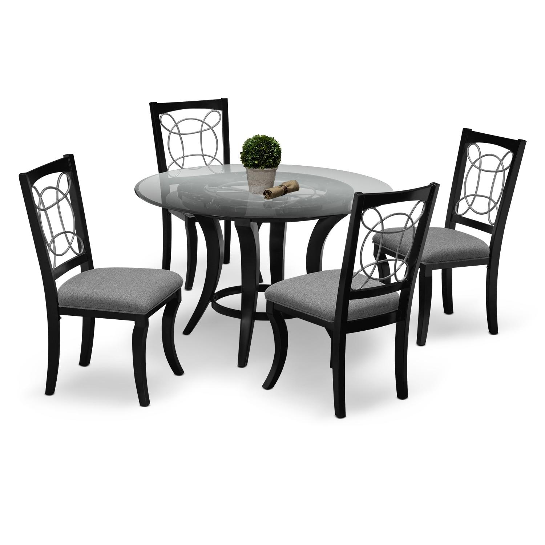 Pandora 5 pc dinette value city furniture for Dining room value city furniture
