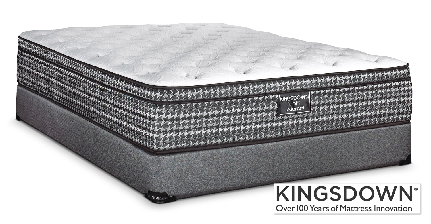 Mattresses and Bedding - Kingsdown Alumni Queen Mattress/Boxspring Set