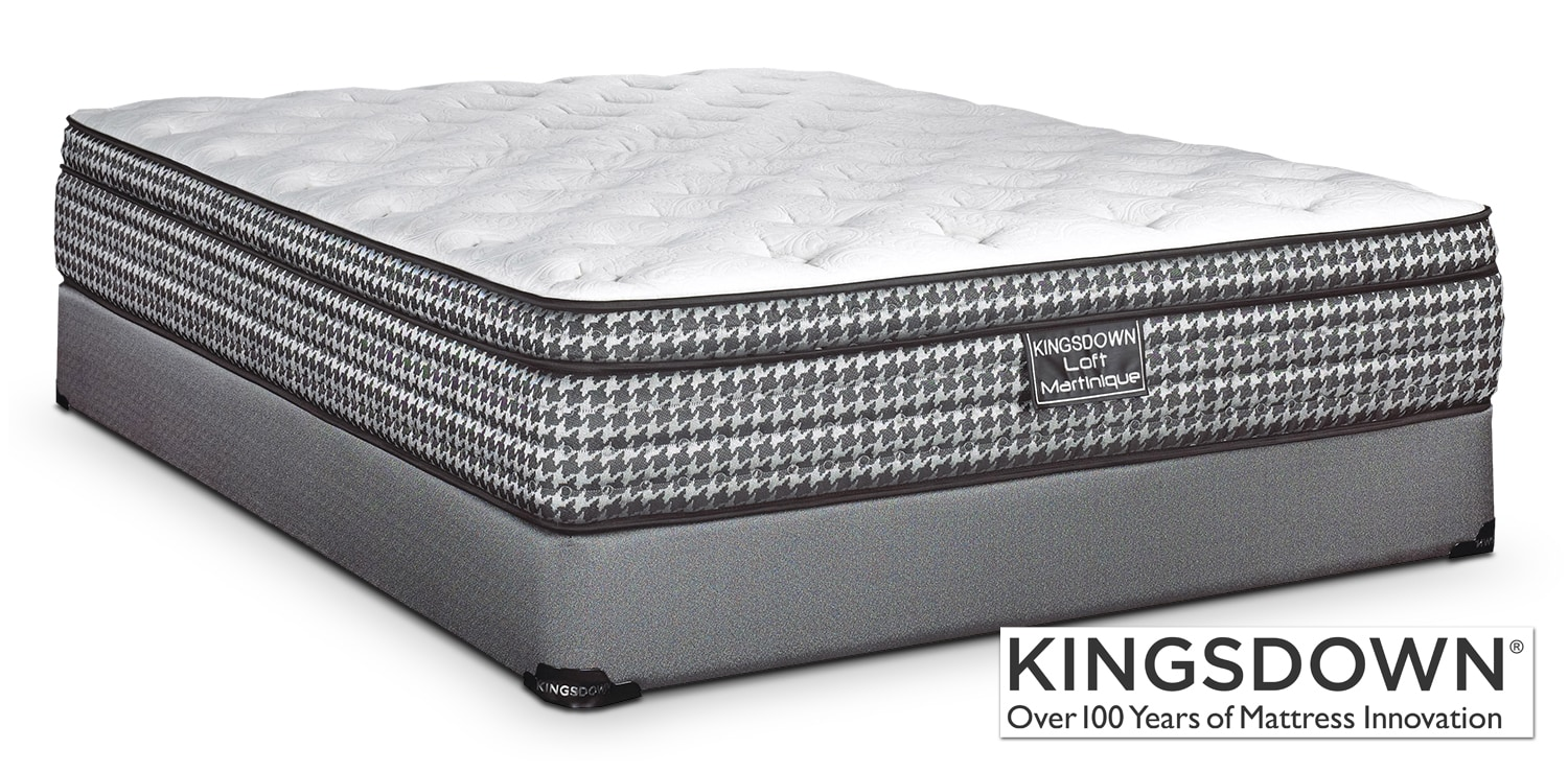 Mattresses and Bedding - Kingsdown Martinique King Mattress/Boxspring Set