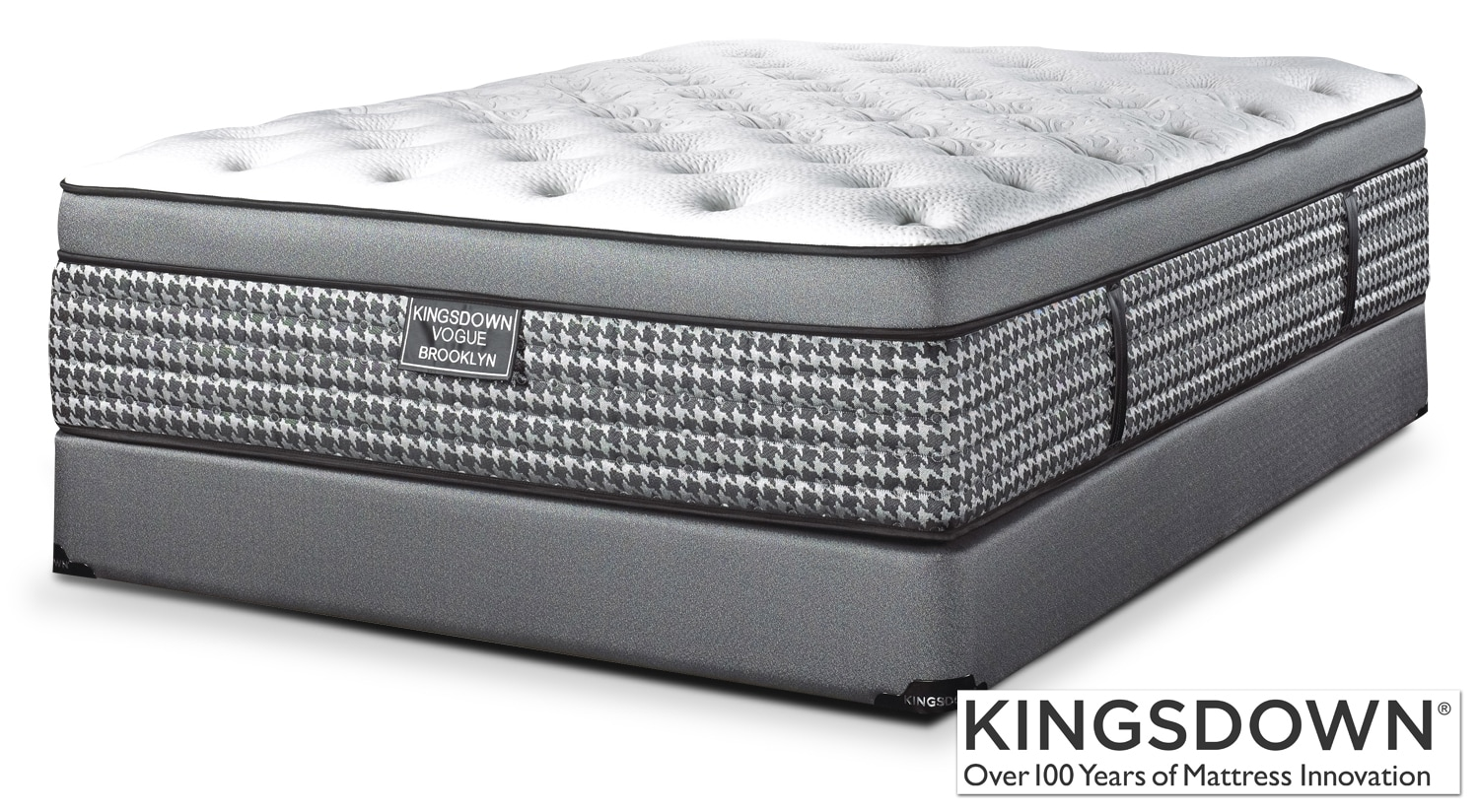 Mattresses and Bedding - Kingsdown Brooklyn Queen Mattress/Boxspring Set