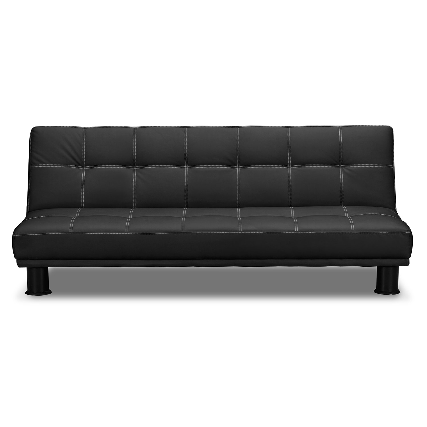 Phyllo futon sofa bed black american signature furniture for Sofa bed outlet