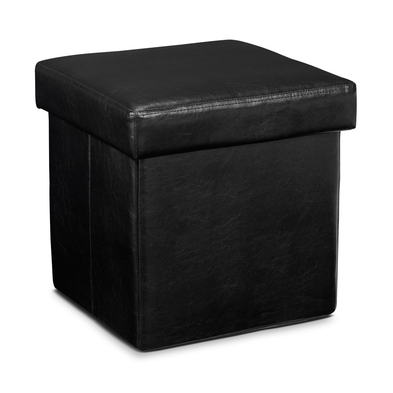 Living Room Furniture - Abbot Folding Cube Ottoman