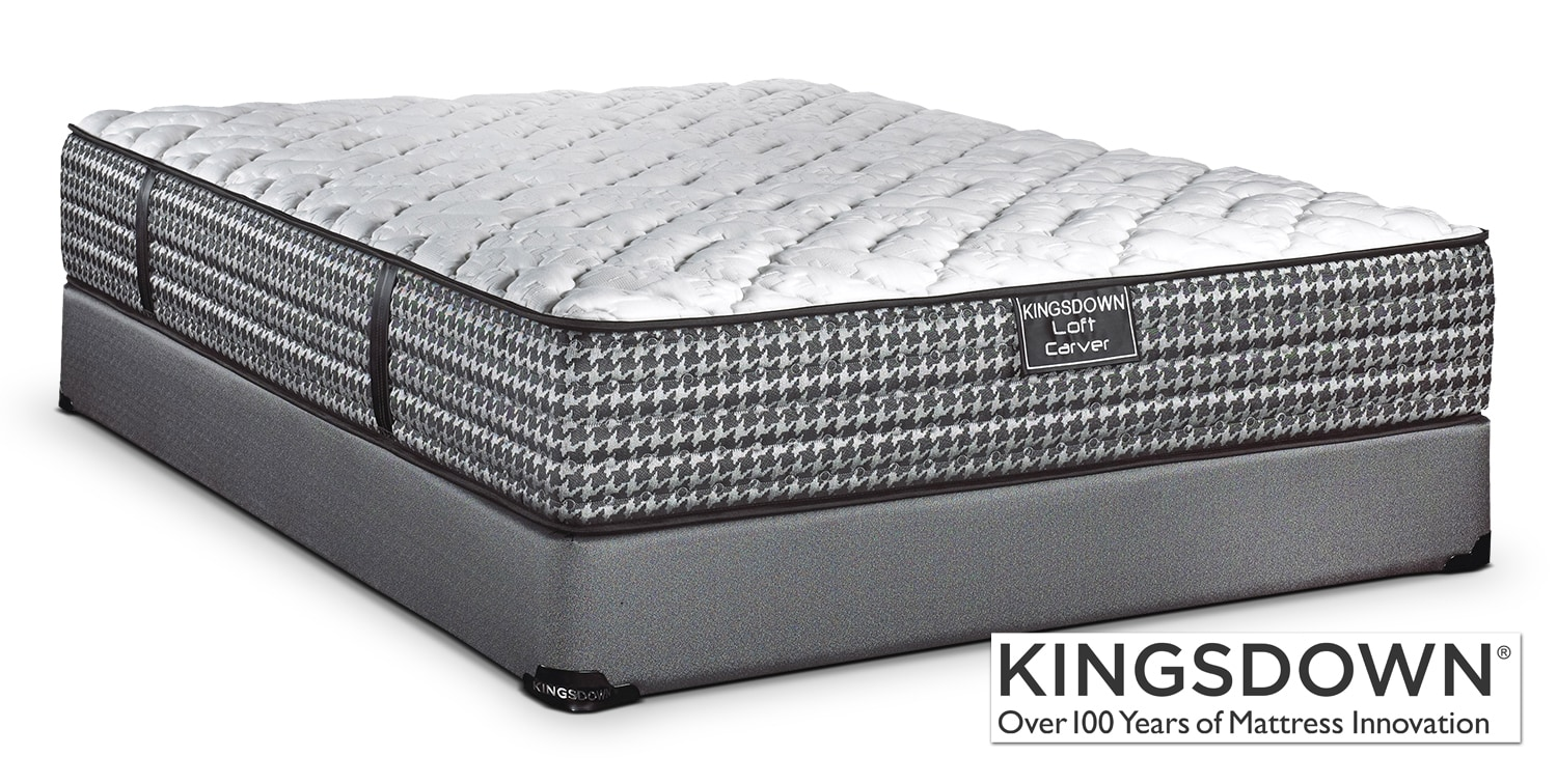 Mattresses and Bedding - Kingsdown Carver Queen Mattress/Boxspring Set