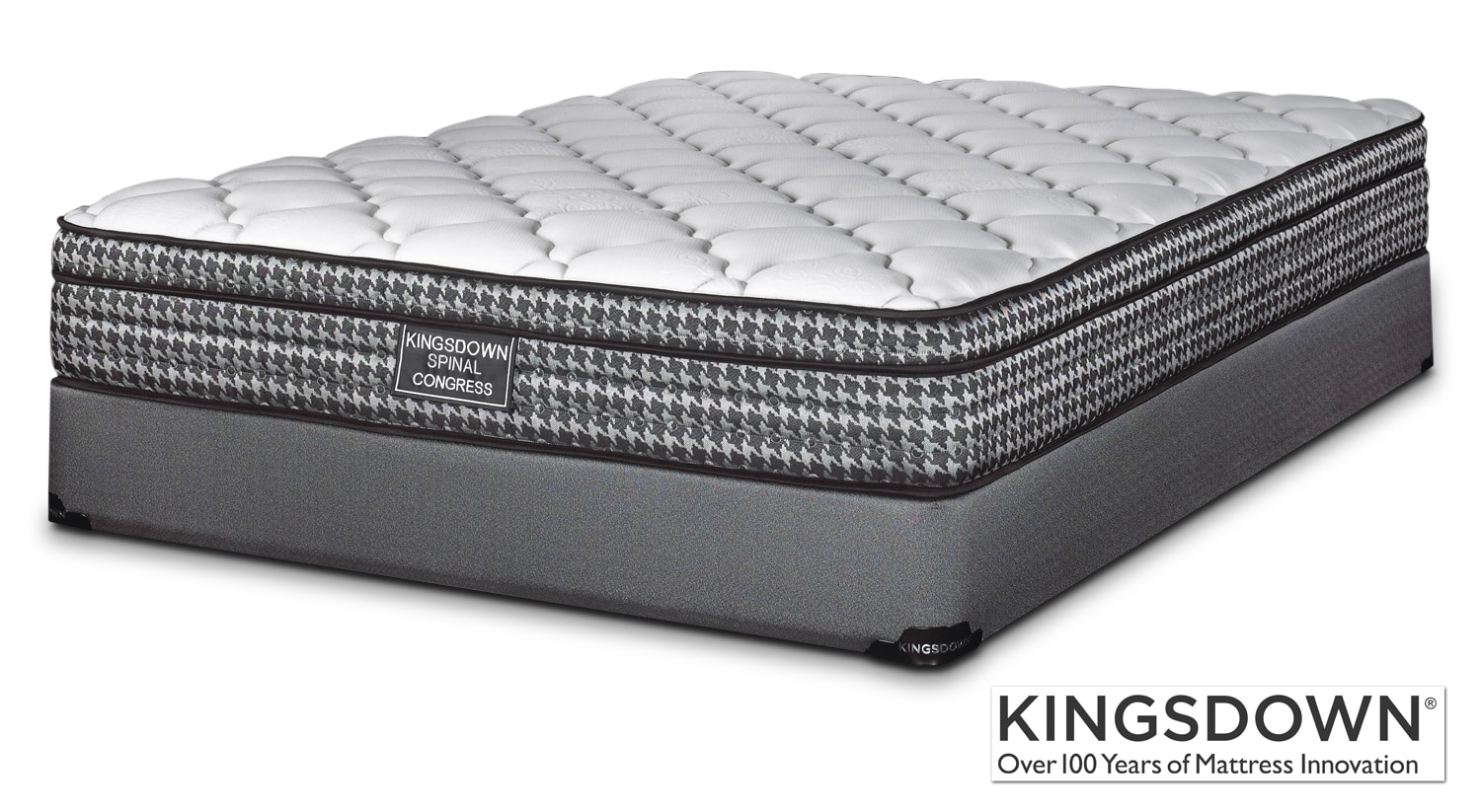 Mattresses and Bedding - Kingsdown Congress Queen Mattress/Boxspring Set