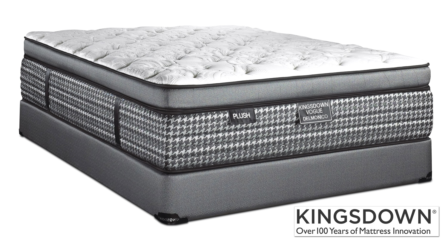 Mattresses and Bedding - Kingsdown Delmonico Plush Twin Mattress/Boxspring Set