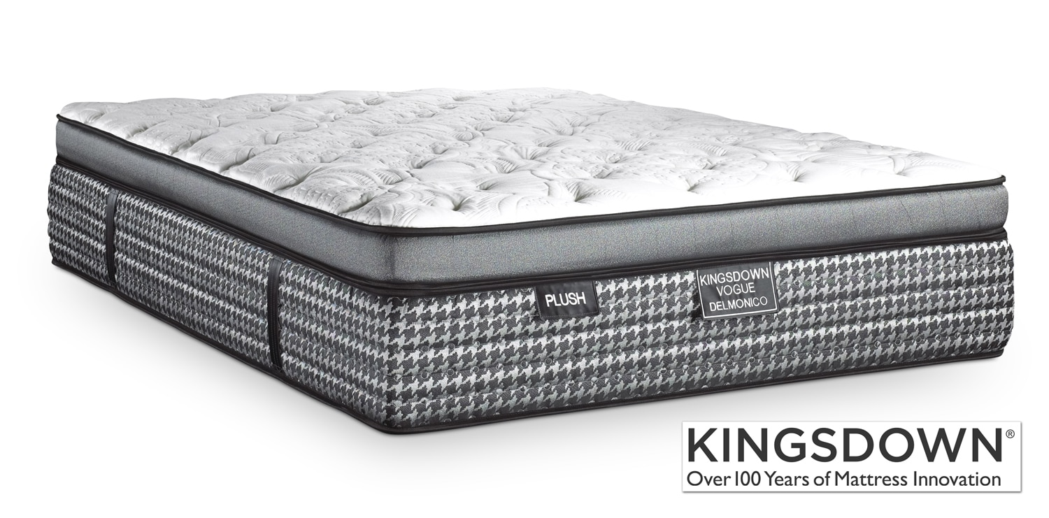 Mattresses and Bedding - Kingsdown Delmonico Plush Full Mattress