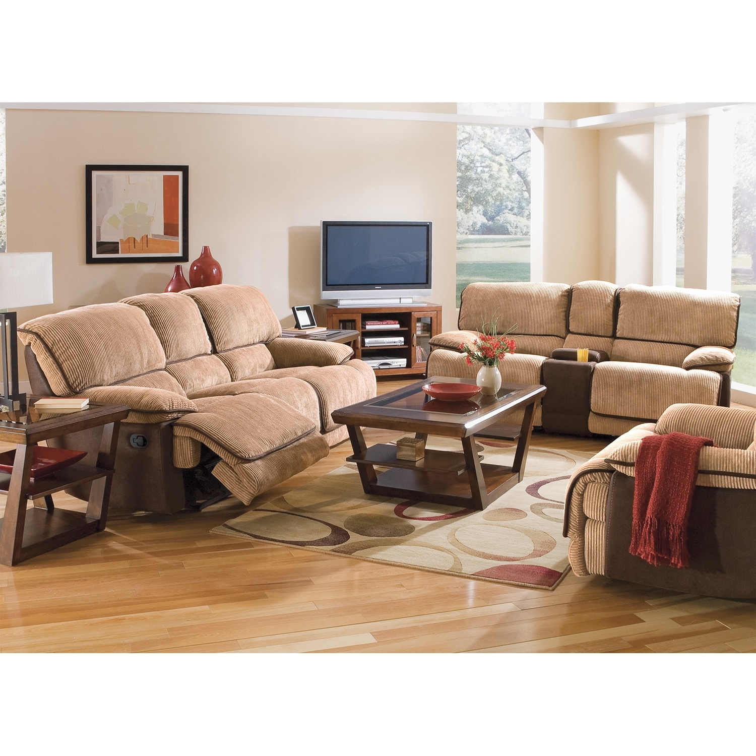 Laguna reclining sofa and gliding reclining loveseat set for Living room deals