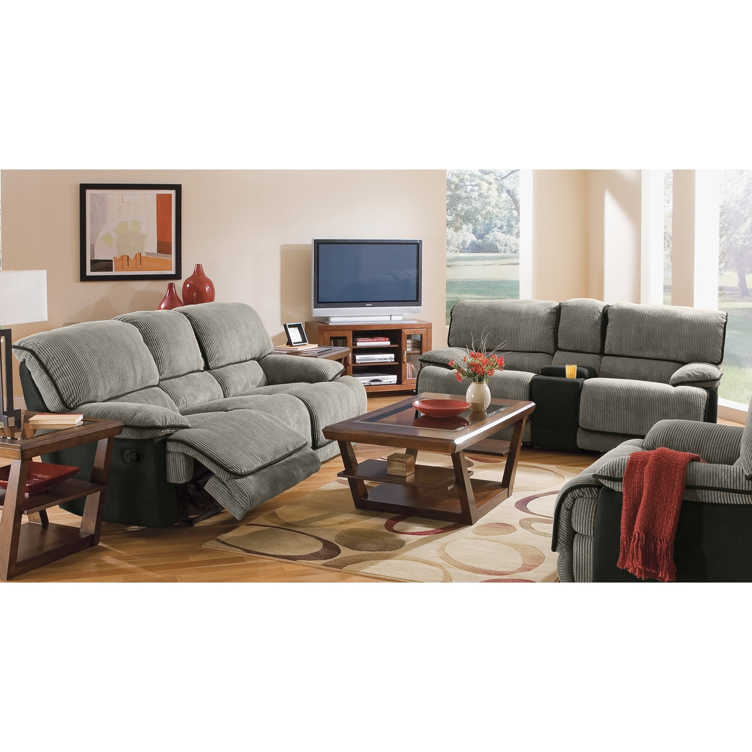 Laguna reclining sofa and gliding reclining loveseat set for Living room packages