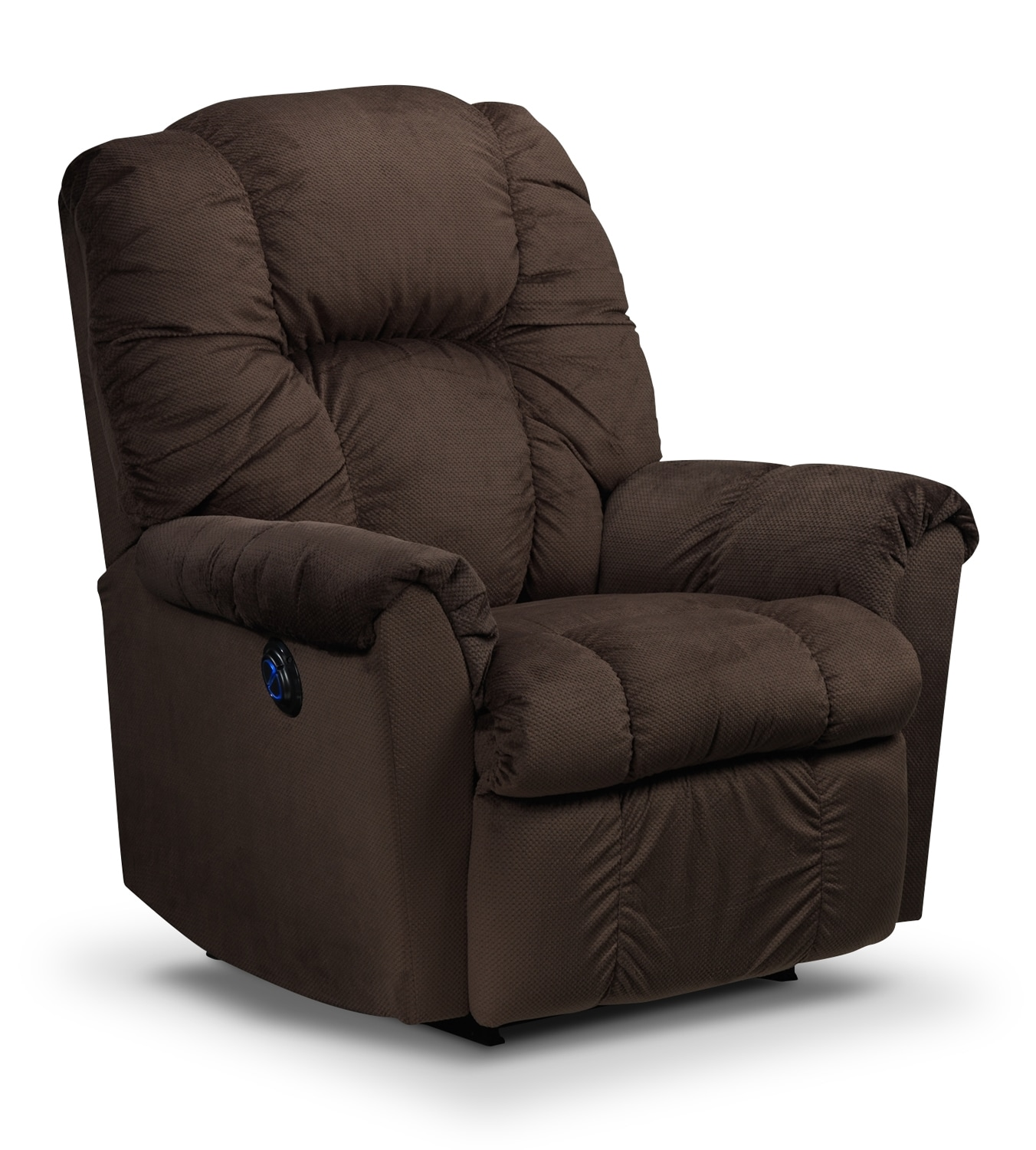 Living Room Furniture - Amaretto Power Rocker Recliner - Brown
