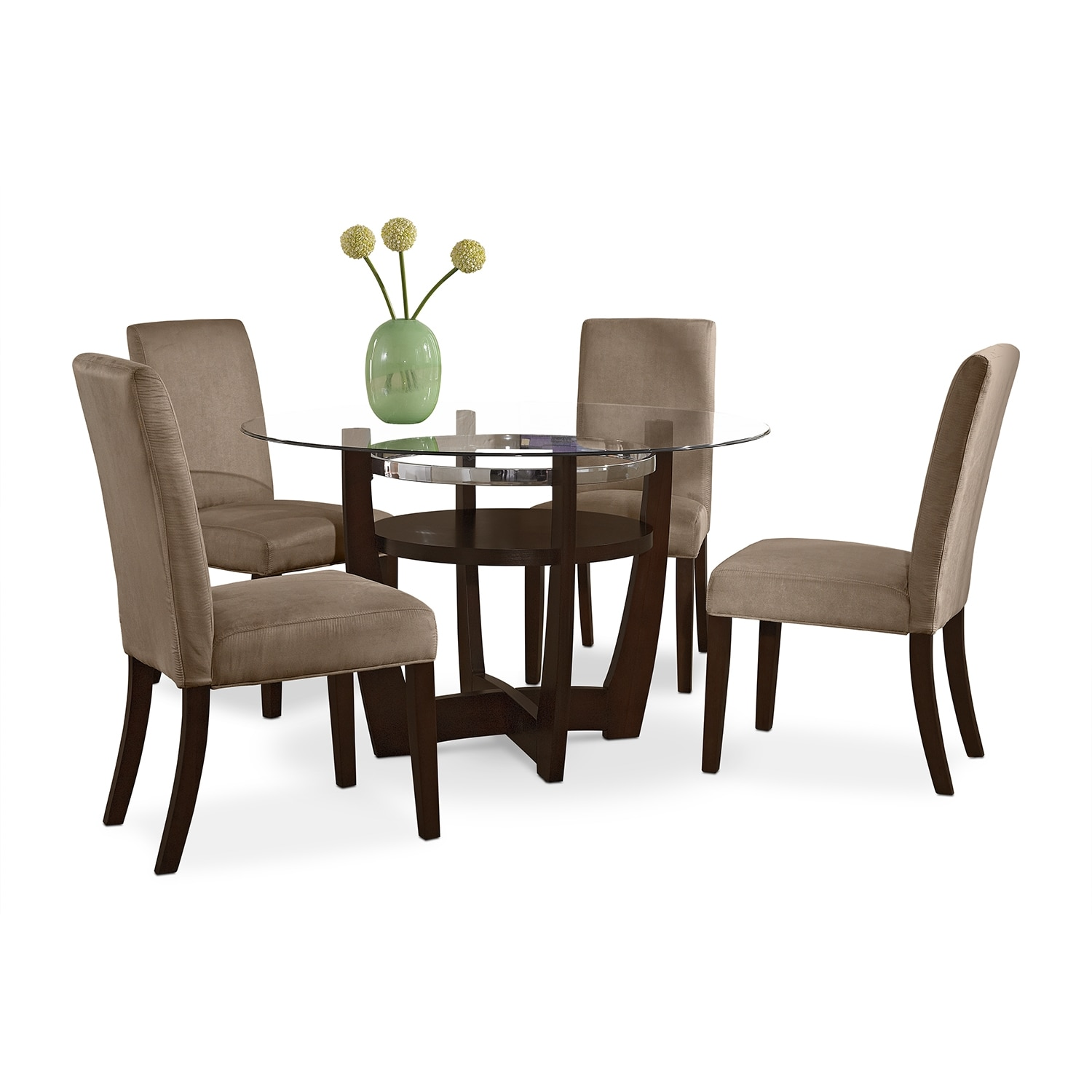 dinette with 4 side chairs beige american signature furniture