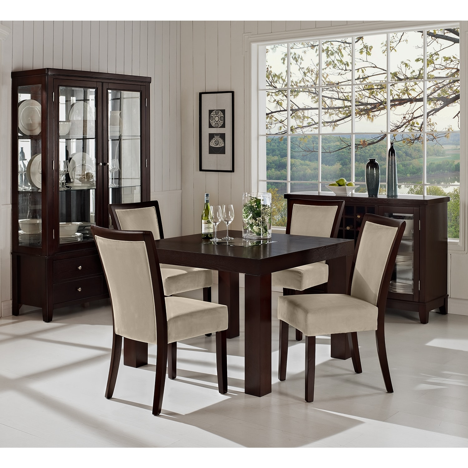 Tango dining room 42 dining table value city furniture for Dining room tables value city