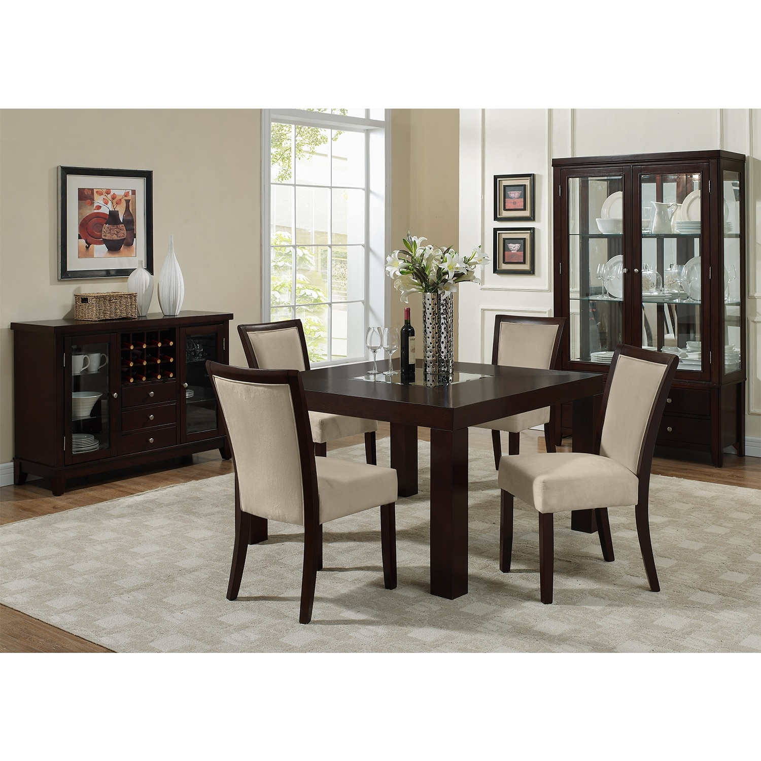 Tango dining room 50 dining table value city furniture for Dining room chairs 50