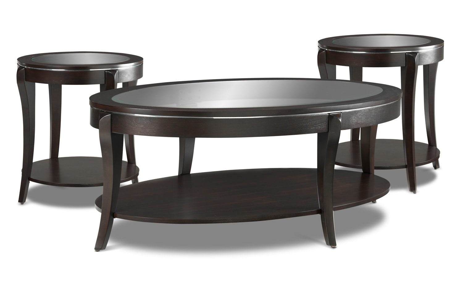 Accent and Occasional Furniture - Taurus Coffee Table and Two End Tables - Espresso