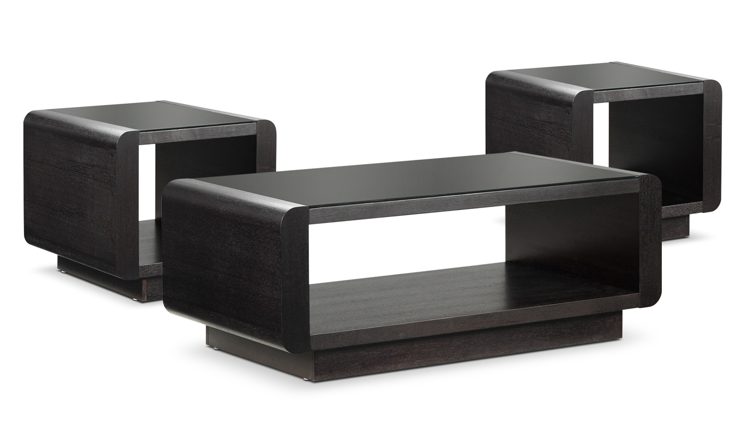 Park Avenue Coffee Table and Two End Tables - Espresso