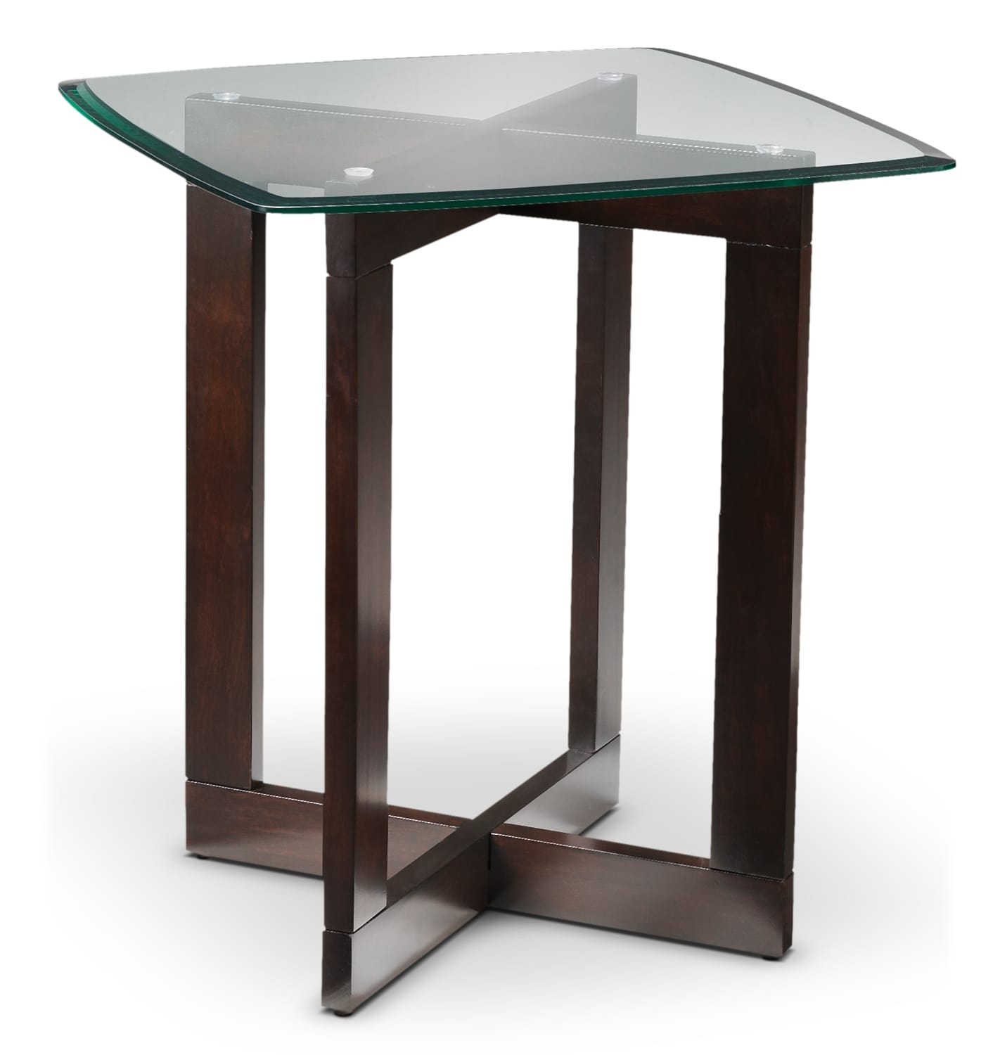 Neera Coffee Table Two End Tables And Ottomans Chocolate And Black Leon 39 S