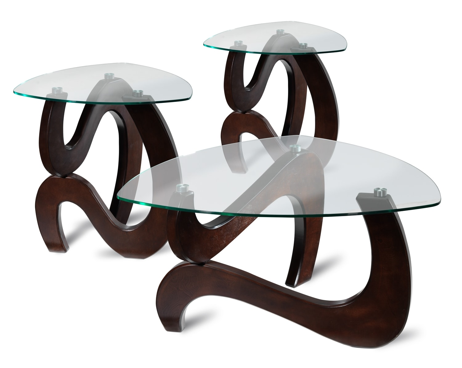 Vivian Ens. Table de centre et 2 tables de bout - expresso