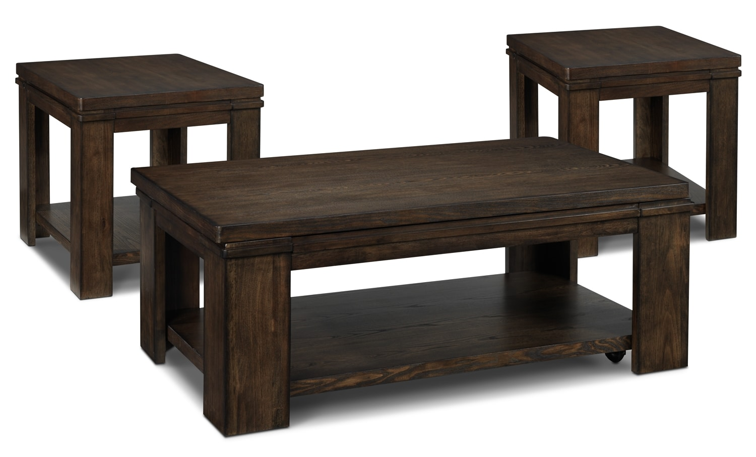Accent and Occasional Furniture - Harbridge 3-Piece Table Set - Nutmeg