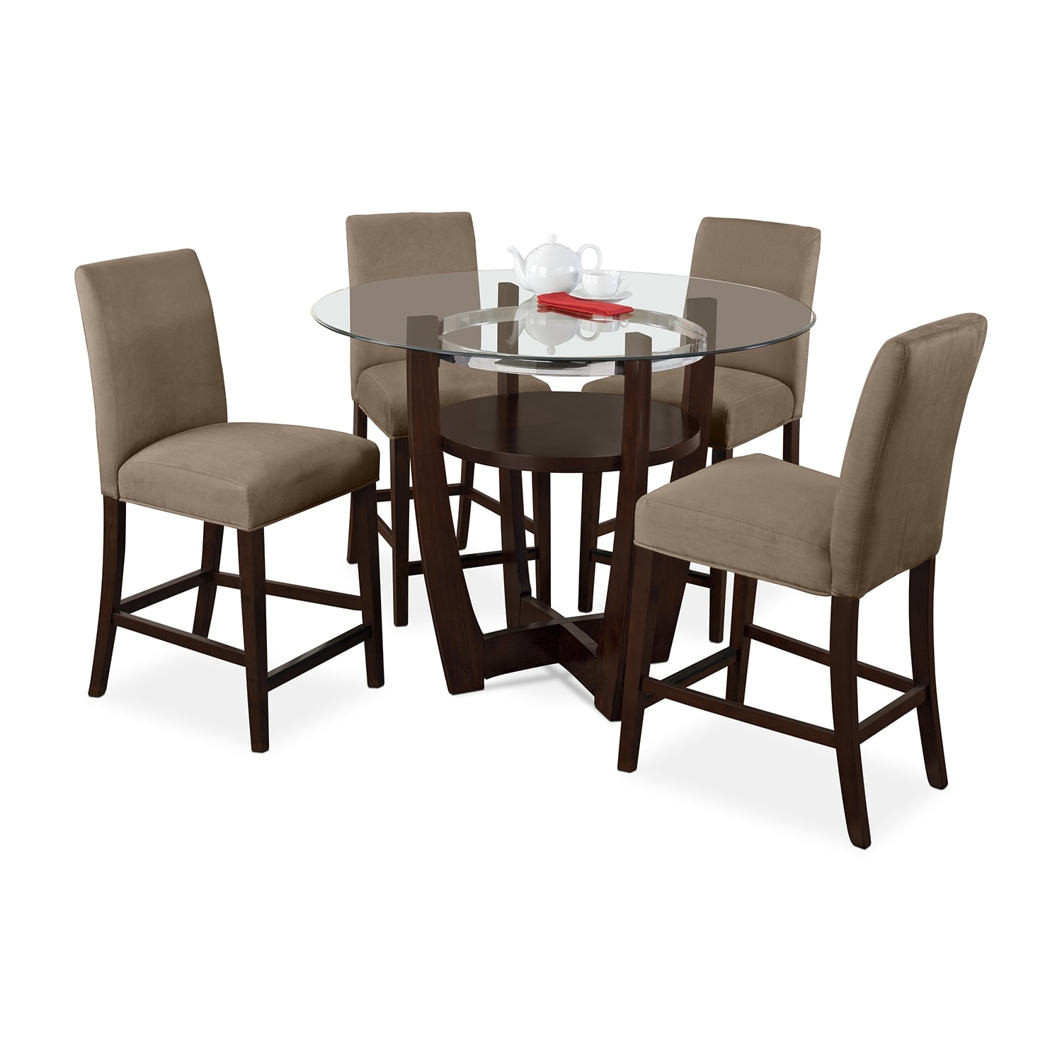 Alcove Counter-Height Dinette With 4 Side Chairs