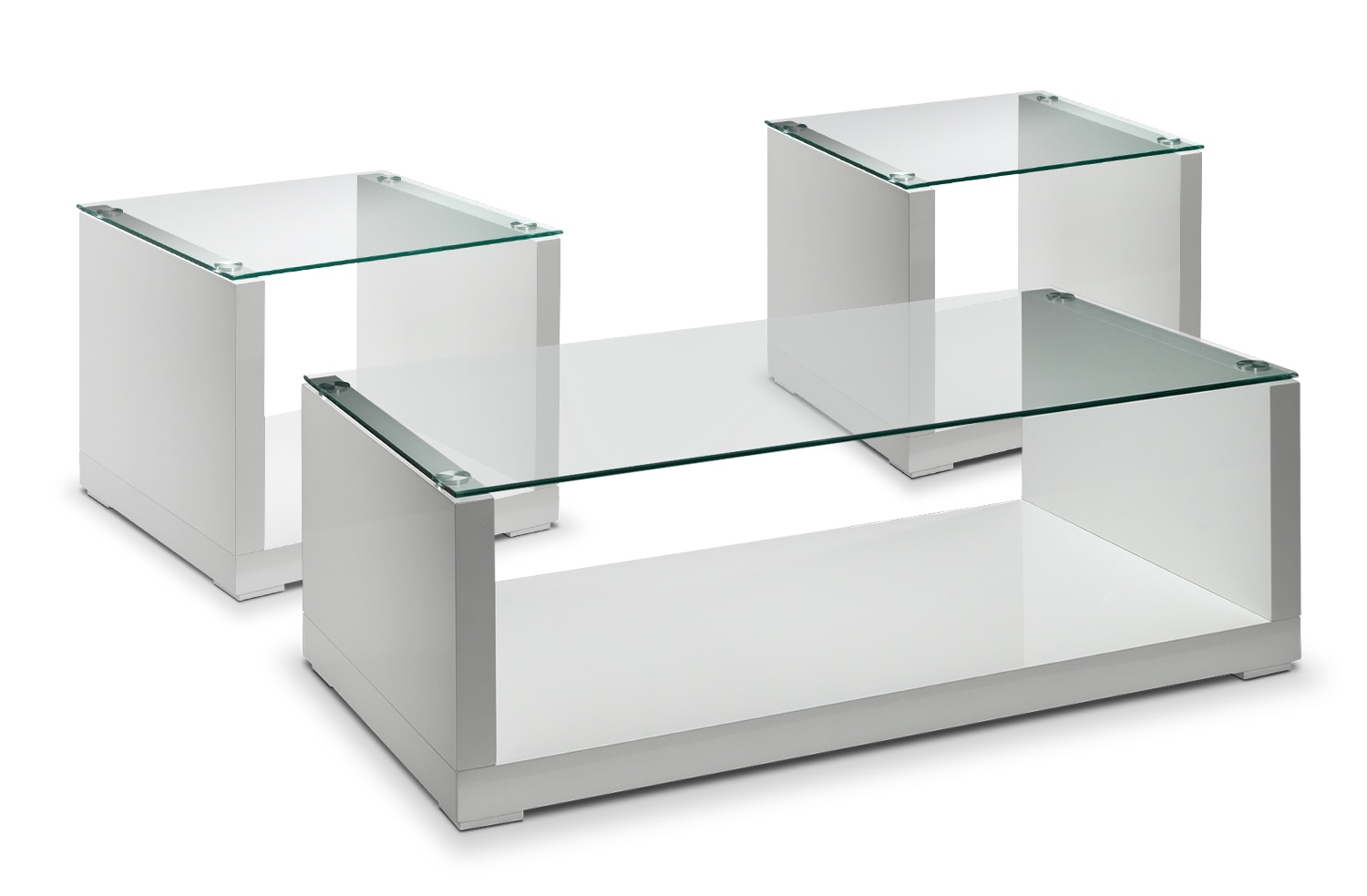 Accent and Occasional Furniture - Sambora Coffee Table and Two End Tables - White