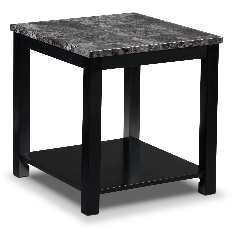 Coffee Table Sets Leons: Selena End Table - Black