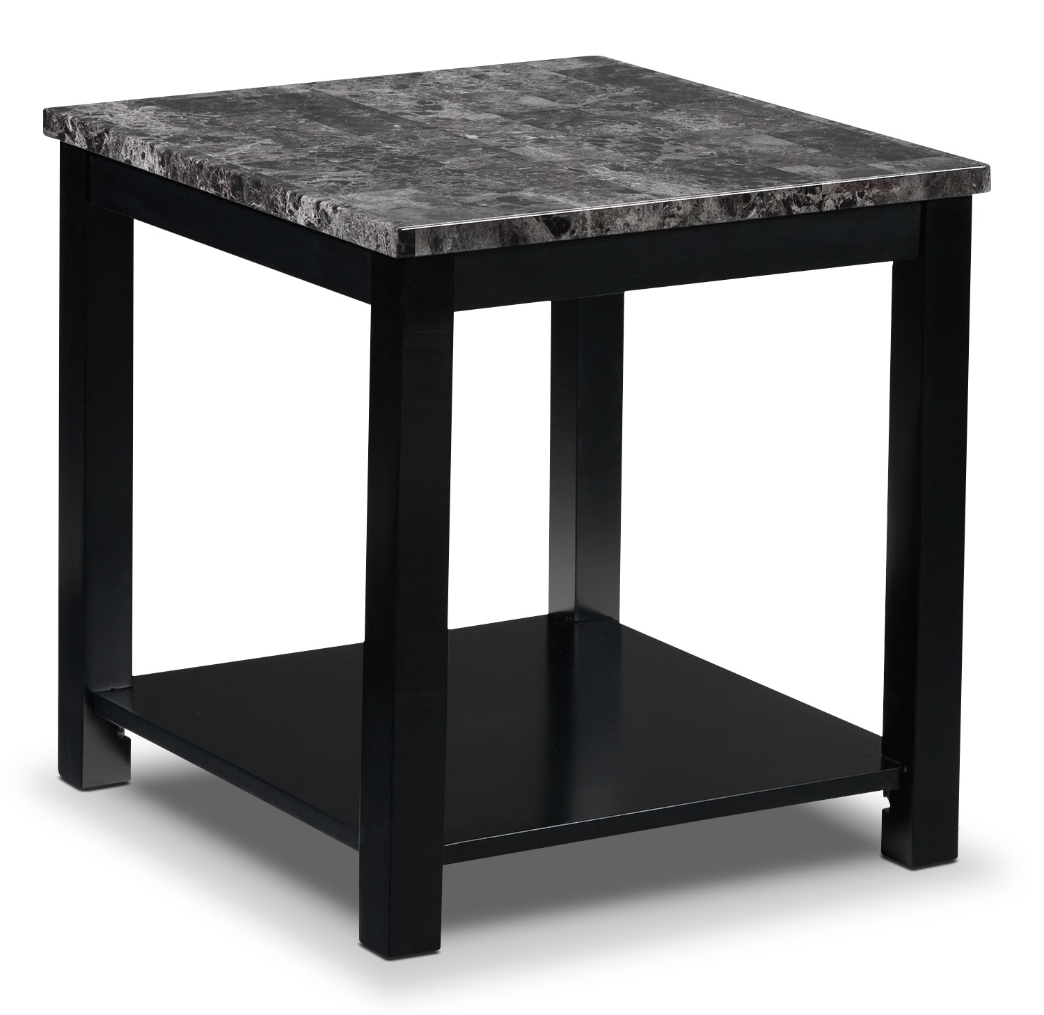 Black Marble Coffee Table Canada: Selena End Table - Black